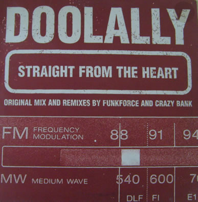 Doolally - Straight From The Heart 12 inch vinyl
