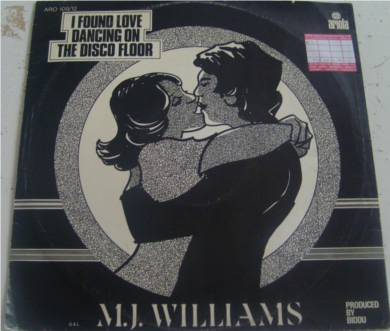 M.J Williams - I Found Love Dancing On Ohe Disco Floor 12 inch vinyl
