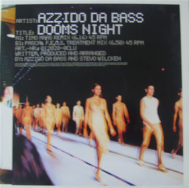 Azzido da Bass - Dooms Night 12 inch vinyl