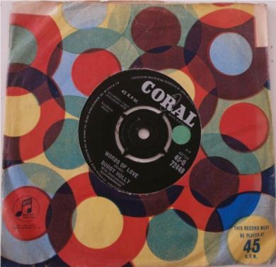 Buddy Holly - Listen To Me 7 Inch Vinyl