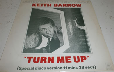 Keith Barry - Turn Me Up 12 inch vinyl
