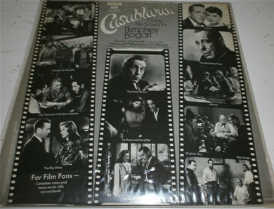 Casablanca - Classic Film Scores For Humphrey Bogart, complete notes and movie stills enclosed 12 Inch Vinyl