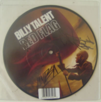 Billy Talent - Red Flag 7 Inch Signed Vinyl