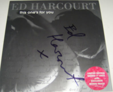 Ed Harcourt - This One's for You 7 Inch Signed Vinyl