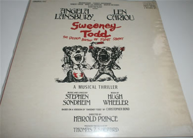 Sweeney Todd The Demon Barber Of Fleet Street - 1980 Double Vinyl Gatefold 12 Inch Vinyl