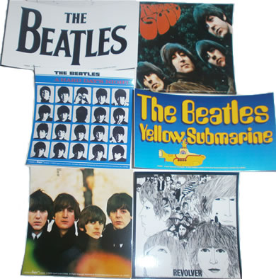 Free Beatles stickers