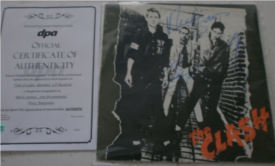 The Clash - The Clash 12 Inch Signed Vinyl