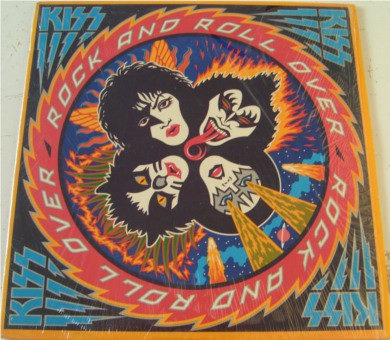 Kiss - Rock And Roll Over - ex con with mint sticker 12 inch vinyl