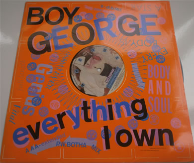 Boy George - Everything I Own 12 inch vinyl