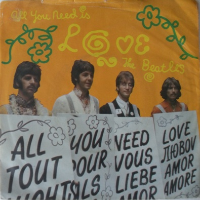 The Beatles - All You Need Is Love 7 Inch Vinyl