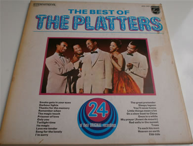 The Platters - The Best Of 2 l.p set in card envelope 12 inch vinyl