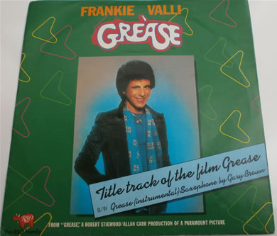 Frankie Valli - Grease / Instrumental 7 Inch Vinyl