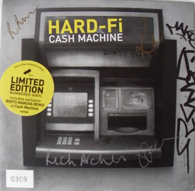 Hard-Fi - Cash Machine 7 Inch Yellow Signed Vinyl