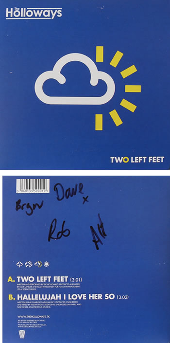 The Holloways - Two Left Feet 7 Inch Signed Vinyl