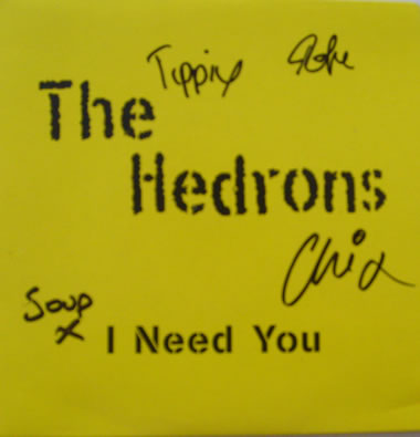 The Headrons - I Need You 7 Inch Signed Vinyl