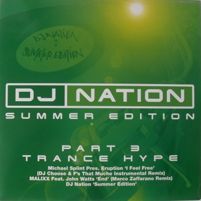 DJ Nation - Summer Edition Part 3 Trance Hype 12 inch vinyl