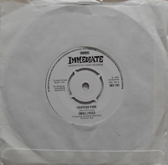 Small Faces - Itchycoo Park 7 Inch Vinyl