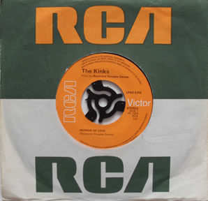 The Kinks - Mirror Of Love 7 Inch Vinyl