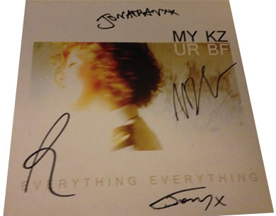 Everything Everything - MY KZ UR BF - 7 inch signed vinyl