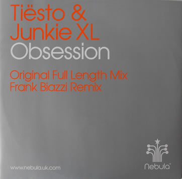 Tiesto And Junkie XL - Obsession 12 inch vinyl