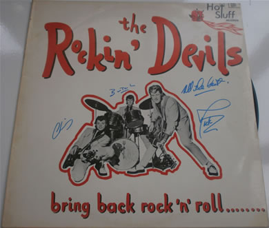 The Rockin Devils - Bring Back Rock n Roll 12 Inch Signed Vinyl