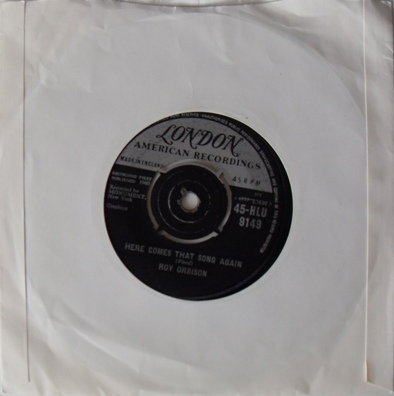 Roy Orbison - Only The Lonely (Know How I Feel) 7 inch vinyl