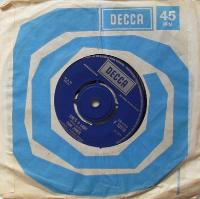 Tom Jones - She's A Lady 7 inch vinyl