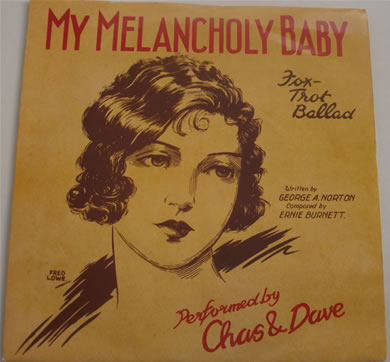 Chas n Dave - My Melancholy Baby / Knees Up Medley KOR21 7 inch vinyl