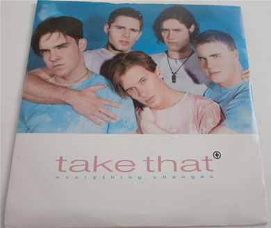 Take That - Everything Changes 7 inch vinyl