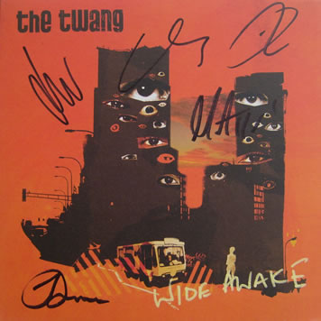 The Twang - Wide Awake 7 Inch Signed Vinyl