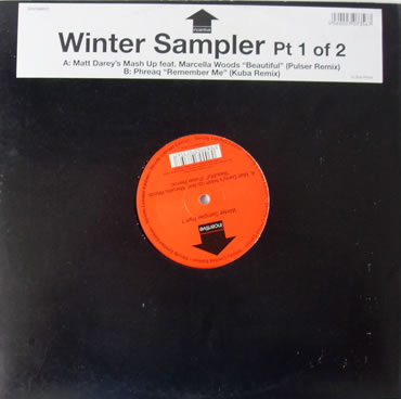 Winter Sampler Part 1 of 2 - Matt Darey's Mash Up - Beautiful and Phreaq - Remember Me 12 inch vinyl