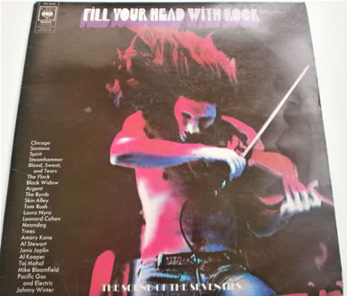 Fill Your Head With Rock rock compilation RARE 12 Inch Vinyl