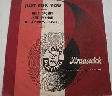 Bing Crosby, Jane Wyman, The Andrews Sisters - Just For You 10 Inch Vinyl