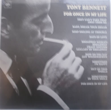 Tony Bennet - For Once In My Life 1967 12 inch vinyl