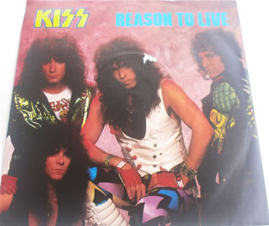 Kiss - Reason To Live VG+ Scuff on front cover KISS8 7 Inch Vinyl
