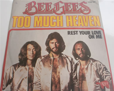 Bee Gees - To Much Heaven 1978 French press 7 Inch Vinyl