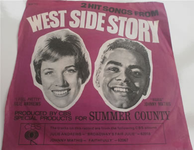 West Side Story - 2 Hit Songs From 7 Inch Vinyl