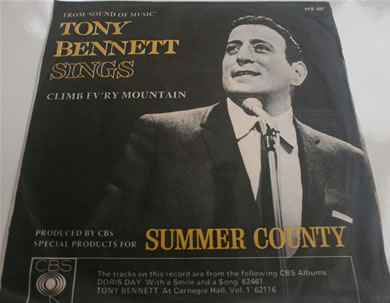 Tony Bennet - Sings Climb Every Mountain / Do Re Mi by Doris Day WB689 7 Inch Vinyl