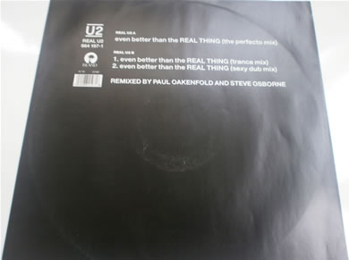U2 - Even Better Than The Real Thing 12 inch vinyl