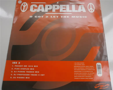 Cappella - You Got To Let The Music 12 Inch Vinyl