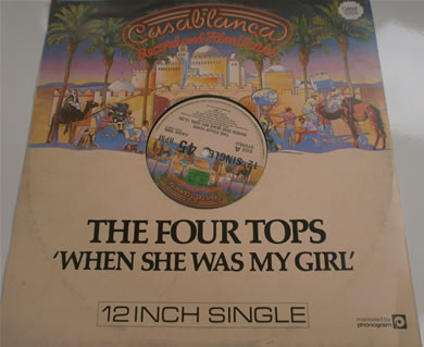 The Four Tops - When She Was My Girl /Something To Remember CANX1005 12 inch vinyl