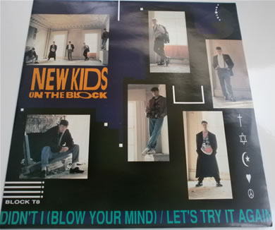 New Kids On The Block - Didn't I Blow your mind / lets try again BLOCK T8 12 Inch Vinyl