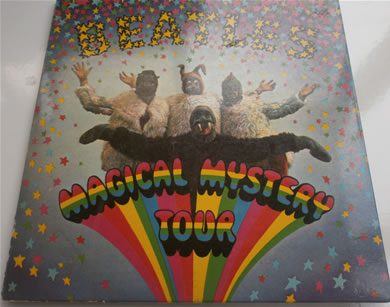 The Beatles - Magical Mystery Tour E.P MONO blue lyric sheet 7 Inch Vinyl