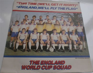 England World Cup Squad '80 - This Time (We'll Get It Right) / England We'll Fly The Flag 7 Inch Vinyl