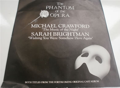 The Phantom Of The Opera - The Music Of The Night / Wishing You Were Somehow Here Again 7 Inch Vinyl
