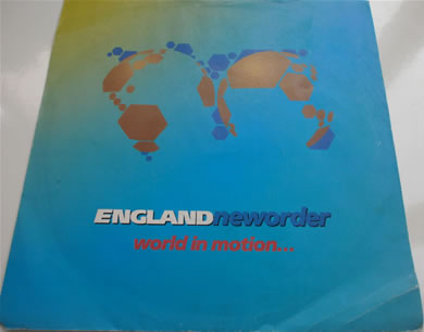 New Order / England - World In Motion 7 inch vinyl