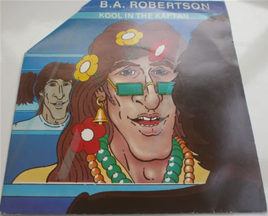 B.A Robertson - Koll in the Kaftan fold out peace sign sleeve 7 inch vinyl