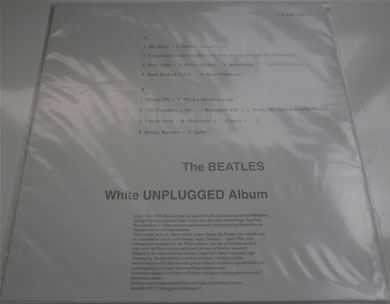 The Beatles - White Unplugged Album 12 inch vinyl